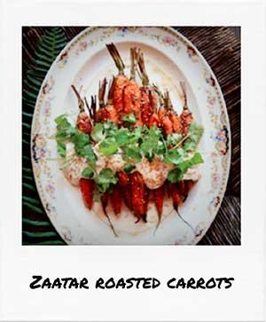 Zaatar roasted carrots