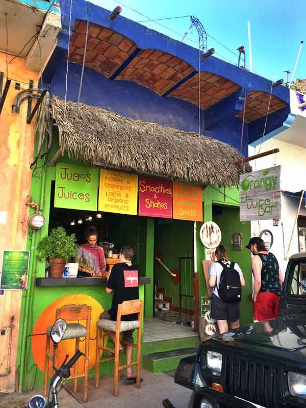Orangy juice sayulita mexico