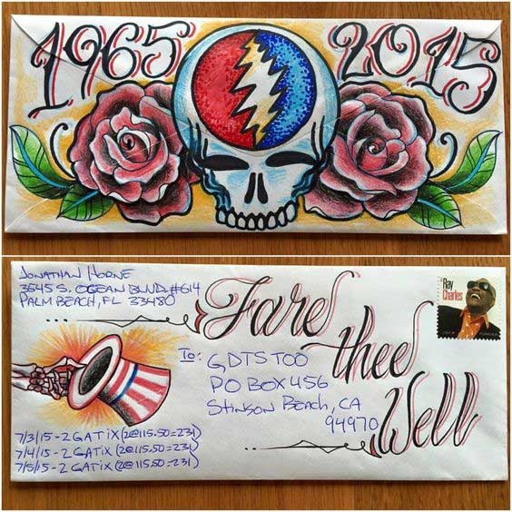 grateful dead envelope art fare thee well