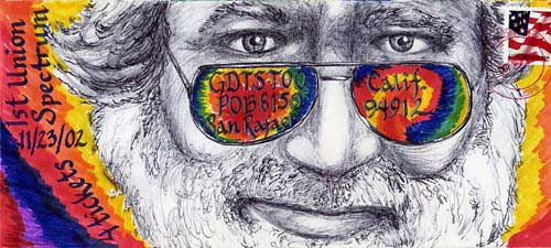 grateful dead envelope art Jerry Garcia