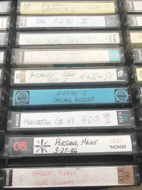 grateful dead fan tape collection